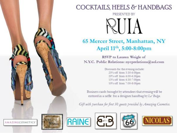 b075c9411c31 Cocktails Heels   Handbags Invitation - 4-11-2013